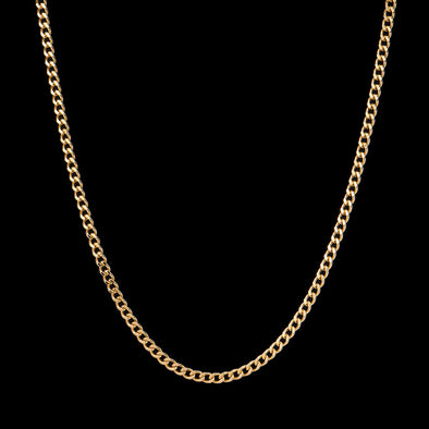 5mm 14K Gold Miami Cuban Curb Chain