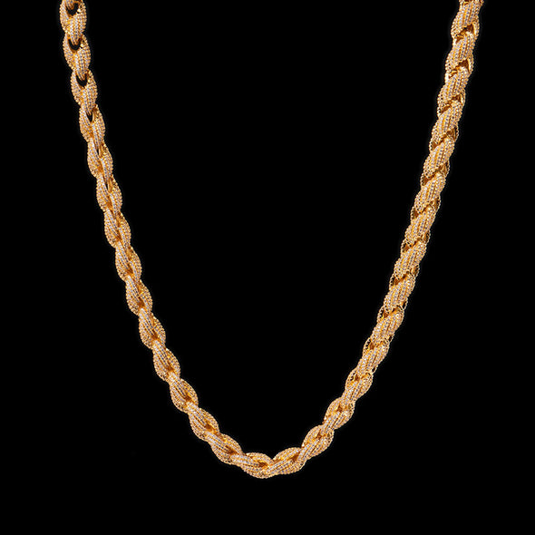 10mm Iced Rope Chain