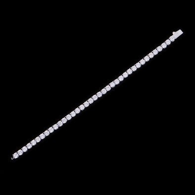 5mm White Gold Iced Tennis Anklet