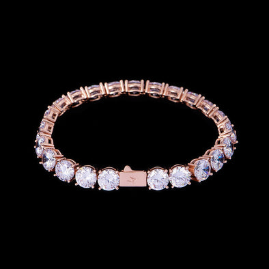 8mm Rose Gold Iced Tennis Bracelet
