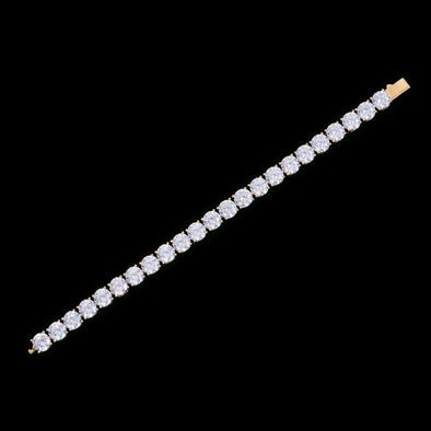 8mm 14K Gold Iced Tennis Anklet