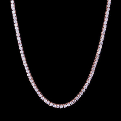 5mm Rose Gold Iced Tennis Chain