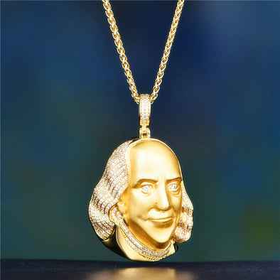 14K Gold Iced Franklin