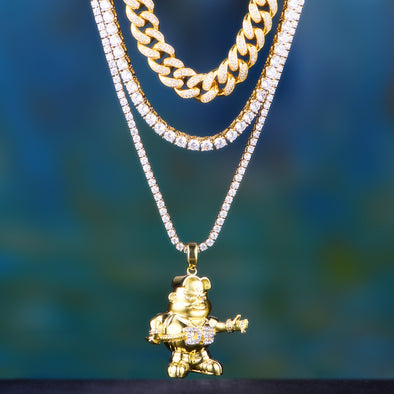 Aporro-bling cuban link chains jewelry