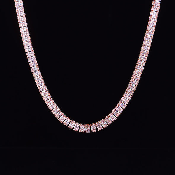 8mm Rose Gold Mosaic Tennis Chain