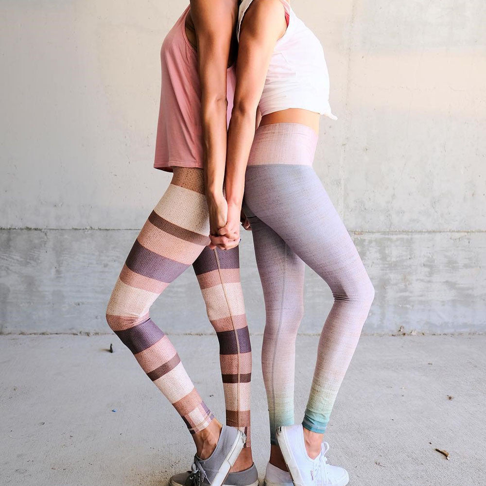 Aiko Leggings - Pink Stripe