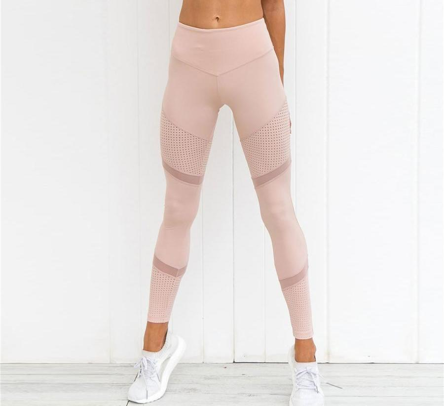 Dusty Pink Mesh Leggings
