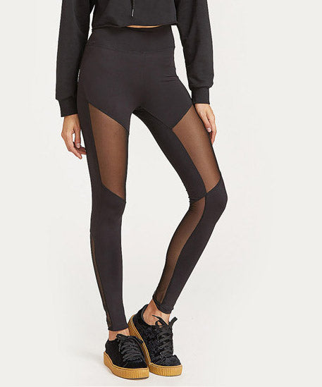 Panel Leggings - Black