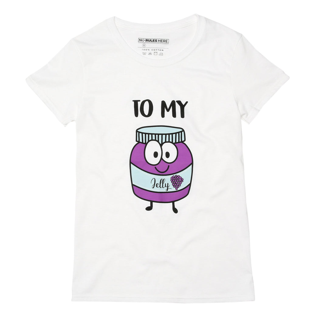 white jelly best friend t-shirt
