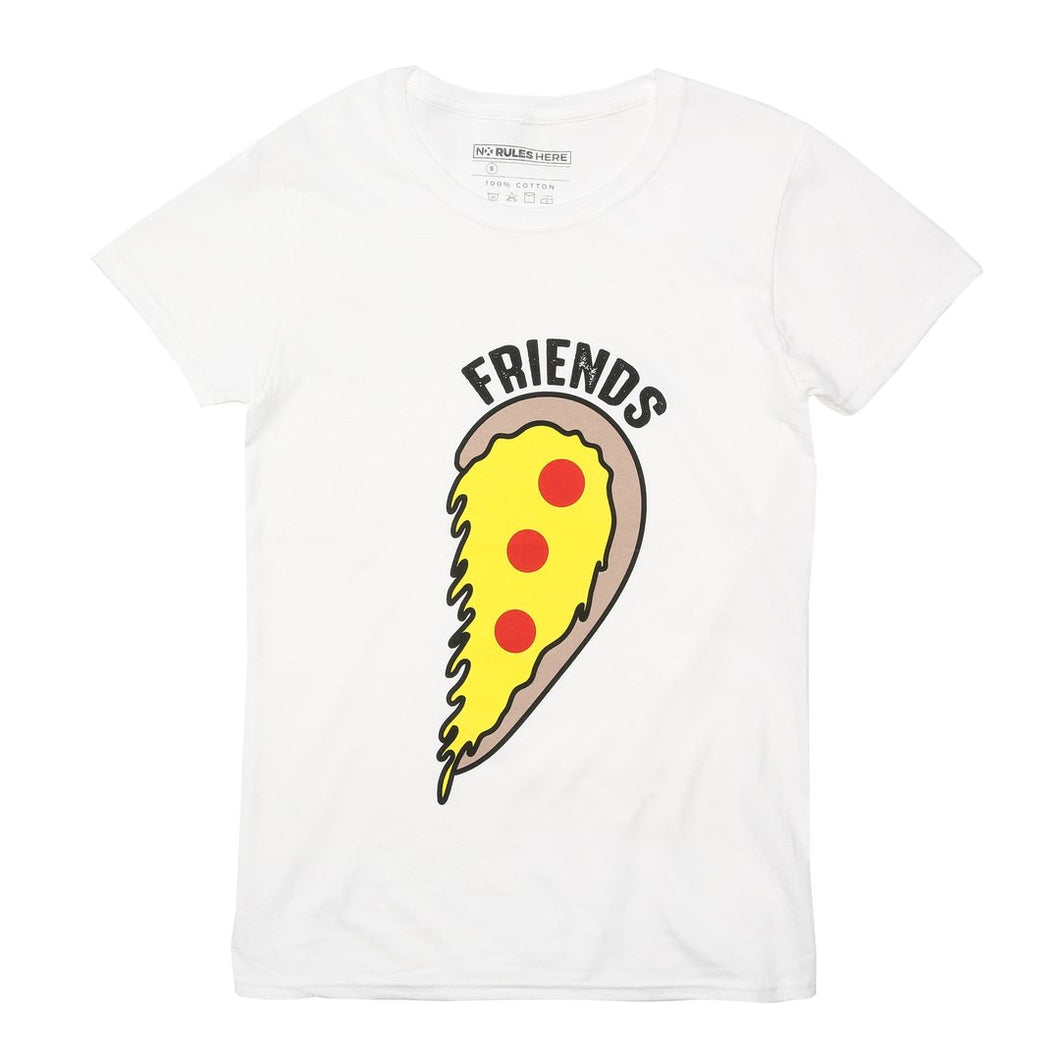 pizza heart best friend t-shirt