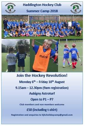Check our Haddington Hockey Club's Summer Camp...