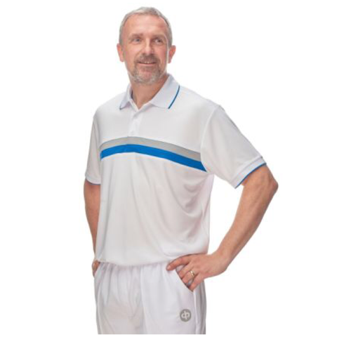 Drakes Pride Cody Bowls Shirt - White/Blue Mens