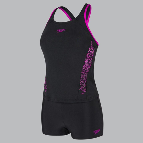 Boom Splice Tankini - Black/Purple