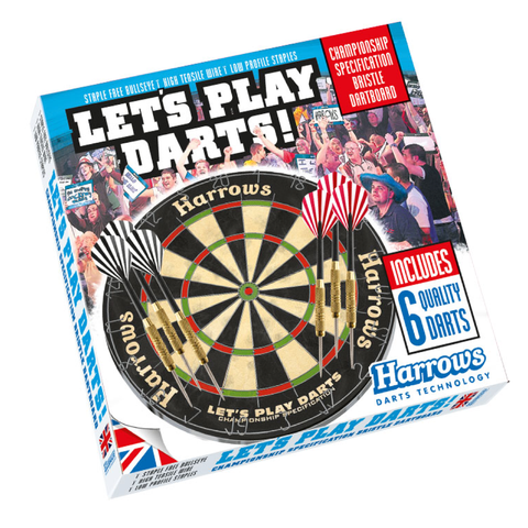 Lets Play Darts Bristle Dartboard