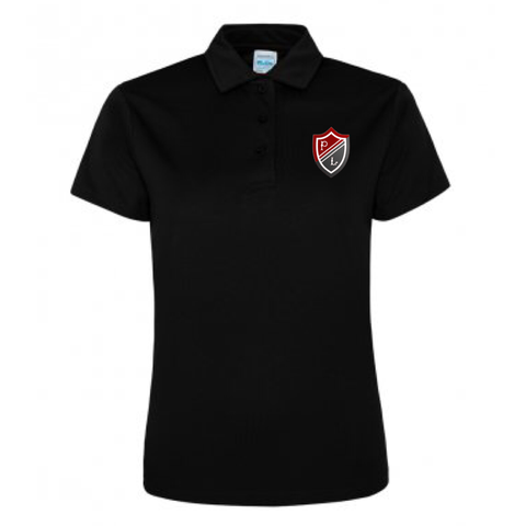 Preston Lodge HS Sports Polo - Ladies Black