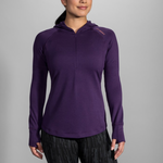 Womens Notch Thermal Hoody - Purple