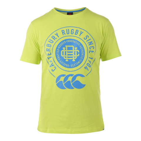 Canterbury College Tee - Lime Punch