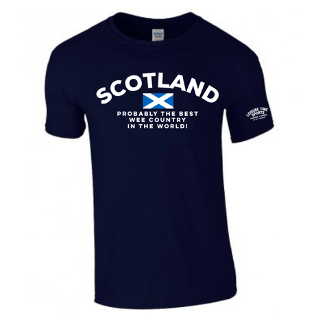 'Scotland Probably The Best Wee Country' Cotton Tee