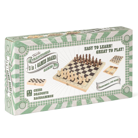 Toyrific 3-in-1 Board Games Set