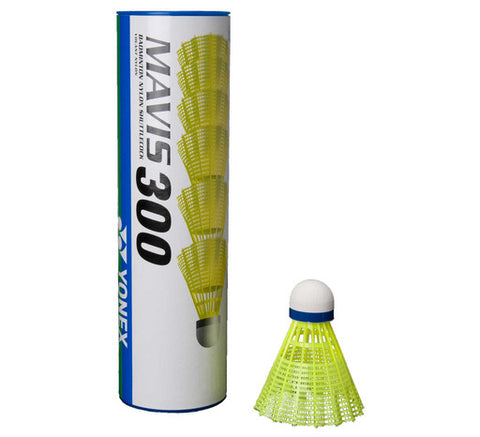 Mavis 300 Shuttlecocks- tube of 6 Yellow