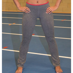 Ladies Fitness Trouser - Sport Grey/Hot Coral