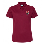 Preston Lodge HS Sports Polo - Ladies  Maroon
