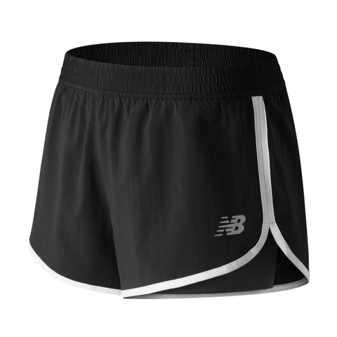 Accelerate 2-in-1 Short - Black/White