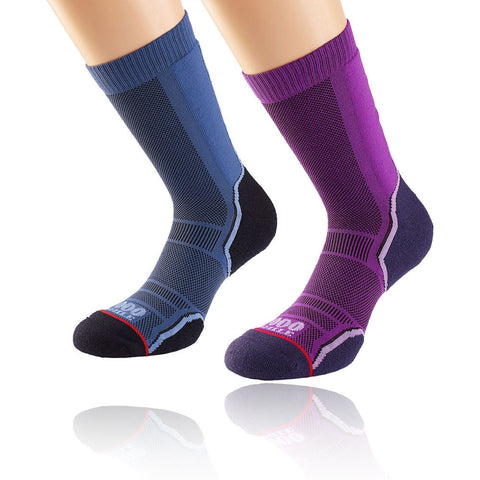 1000 Mile Womens Trek Sock - Twin Pack