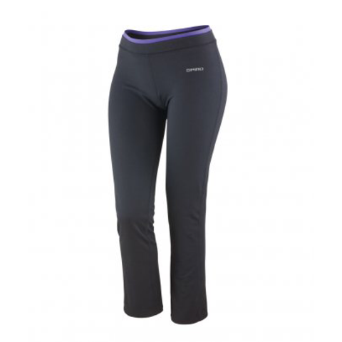 Ladies Fitness Trouser - Black/Lavender