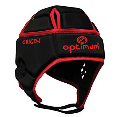 Optimum Origin Headguard - Black/Red