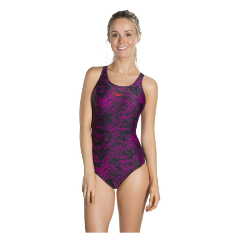 Speedo Boom Allover Muscleback - Black/Pink