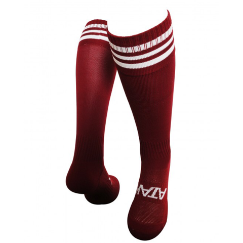 Sports Socks - Maroon/ White Rings