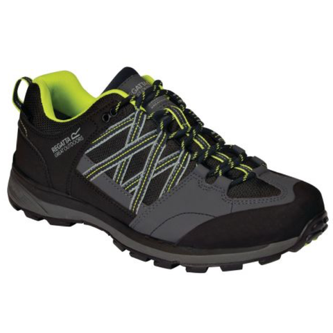 Regatta Men's Samaris Low II Waterproof Walking Shoes - Black/Lime