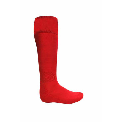 ATAK Plain Sports Socks - Red JNR