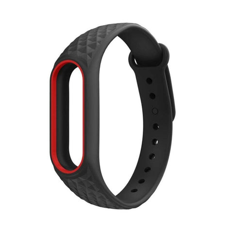 TECH-PROTECT SMOOTH XIAOMI MI BAND 2 BLACK/RED
