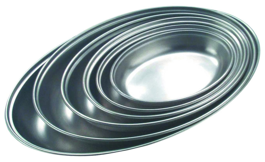 GenWare Stainless Steel Oval Vegetable Dish 22.5cm/9""