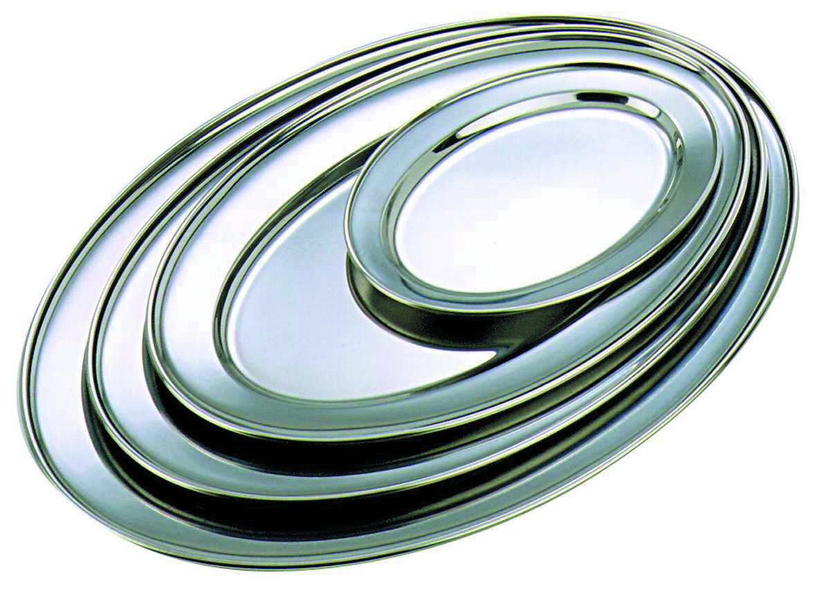 GenWare Stainless Steel Oval Flat 54.5cm/22""