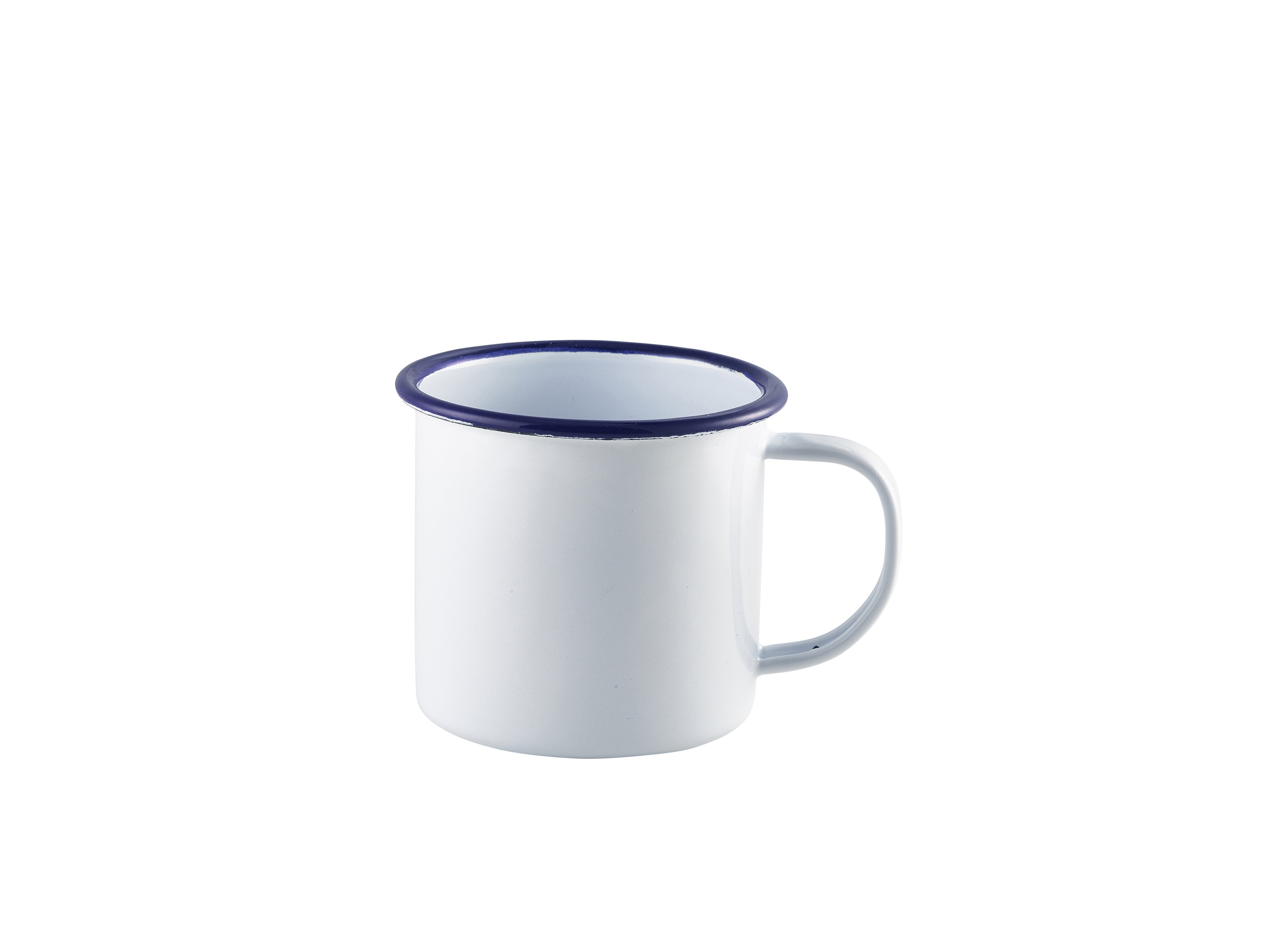 Enamel Mug White with Blue Rim 36cl/12.5oz