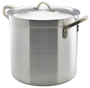 Aluminium Deep Stockpot With Lid 32Litre