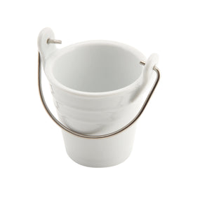 Ceramic Bucket W/ St/St Handle 6.5cm Dia 10cl
