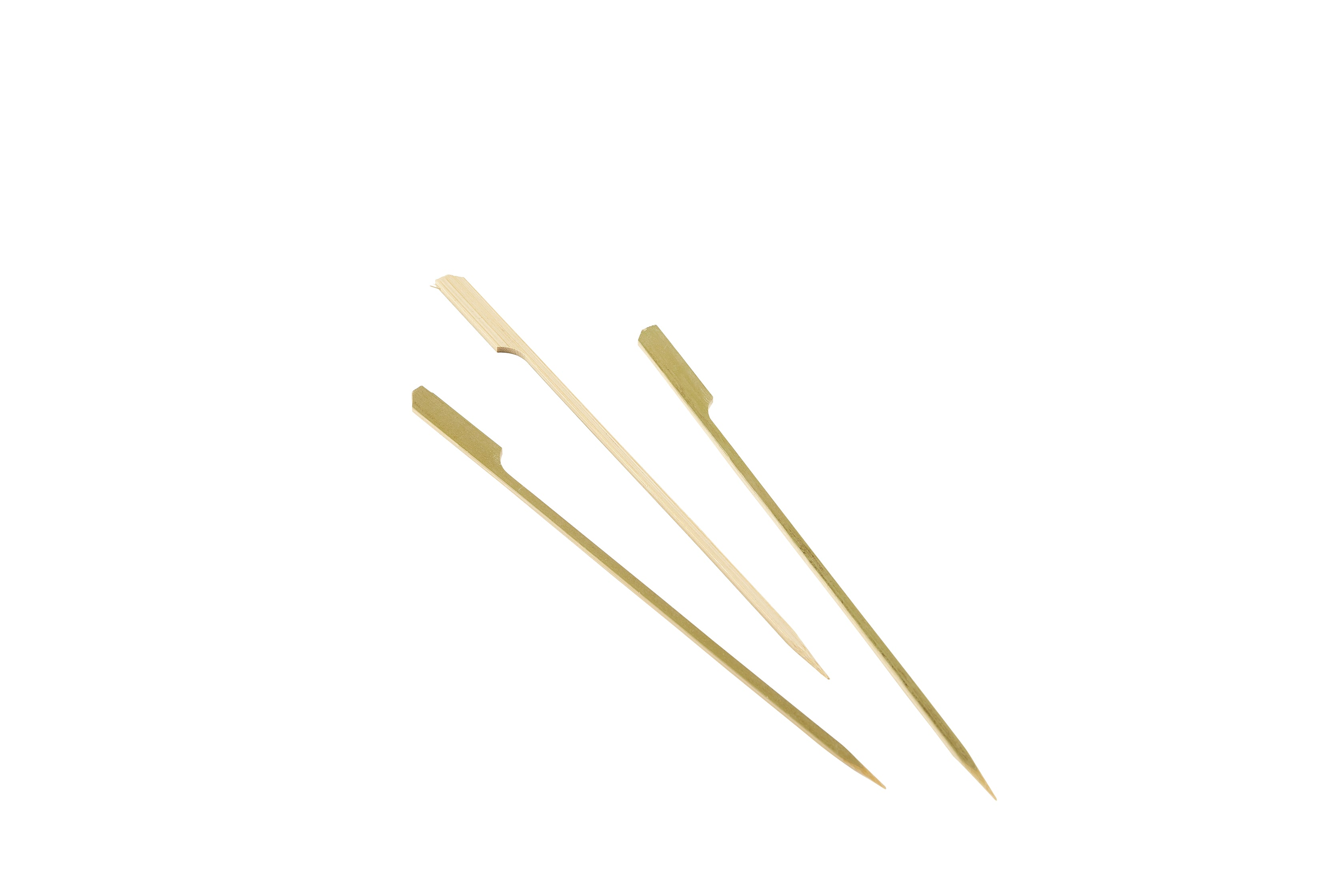 "Bamboo Gun Shaped Paddle Skewers 21cm/8.25"" (100pcs)"