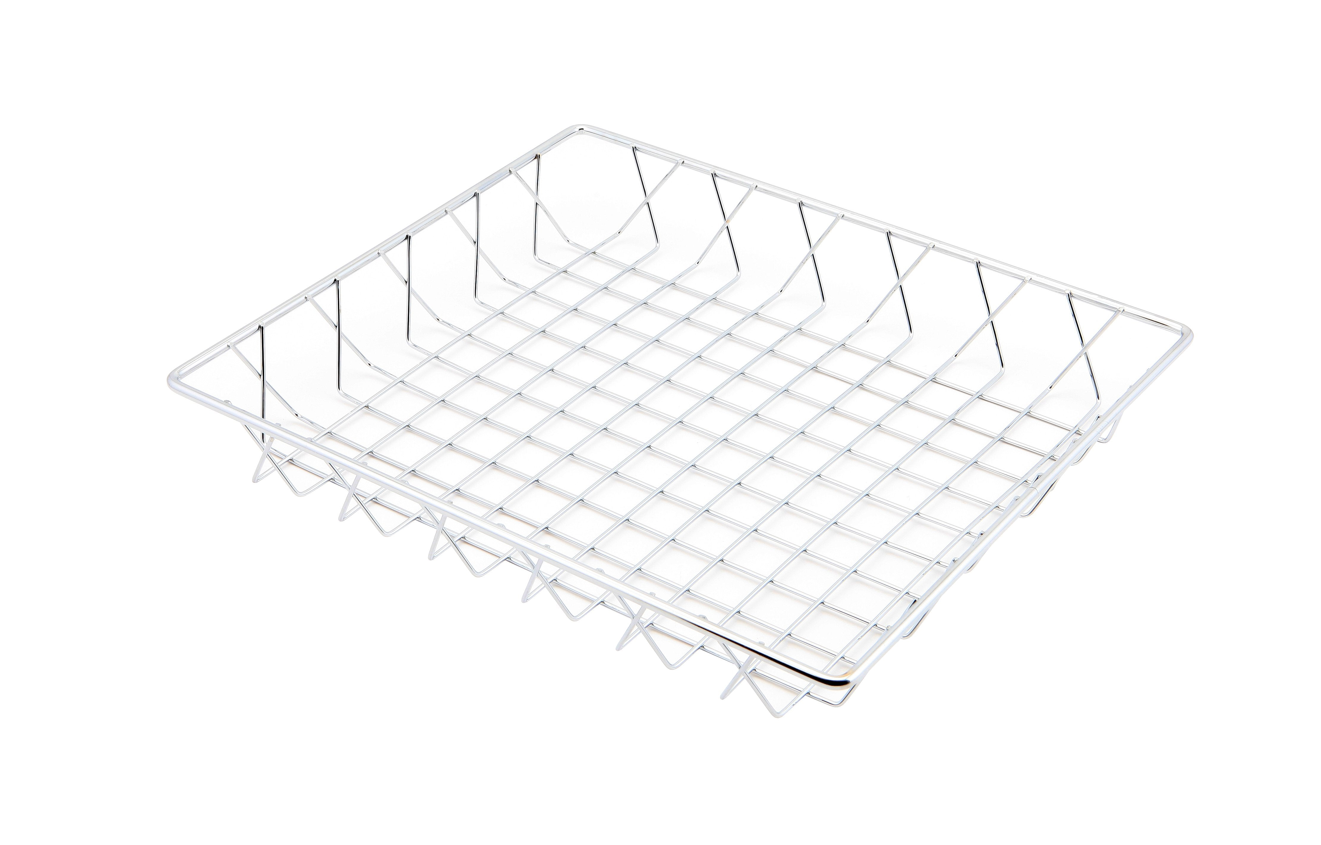 Chrome Display Basket 35X30X5cm