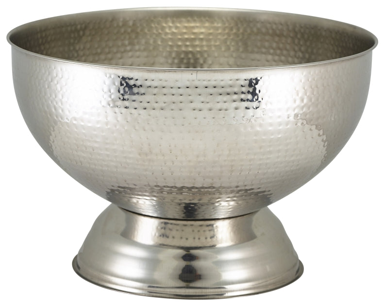 Hammered Stainless Steel Champagne Bowl 36cm