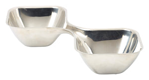 Stainless Steel Double Snack Bowl
