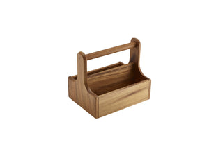 Medium Dark Wood Table Caddy