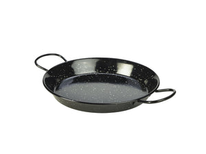 Black Enamel Paella Pan 26cm 6 pack