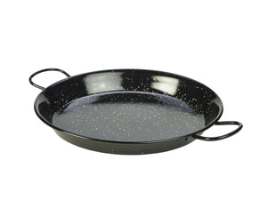 Black Enamel Paella Pan 30cm 6 pack