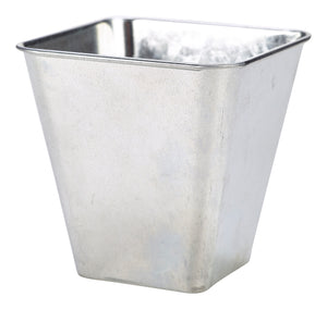 Galvanised Steel Flared Serving Tub 10 x 10 x 10cm