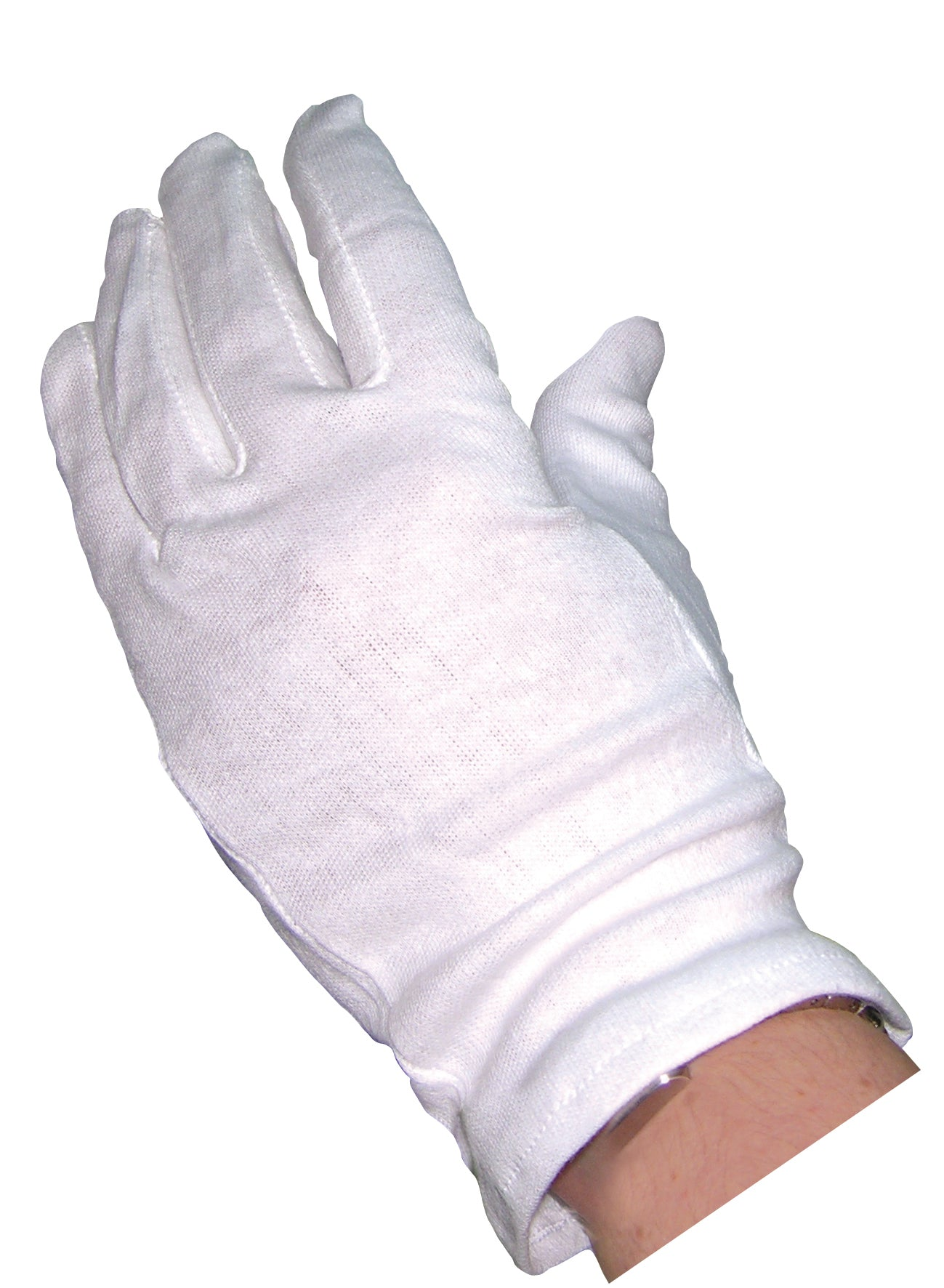 White Cotton Gloves (10 Pairs)