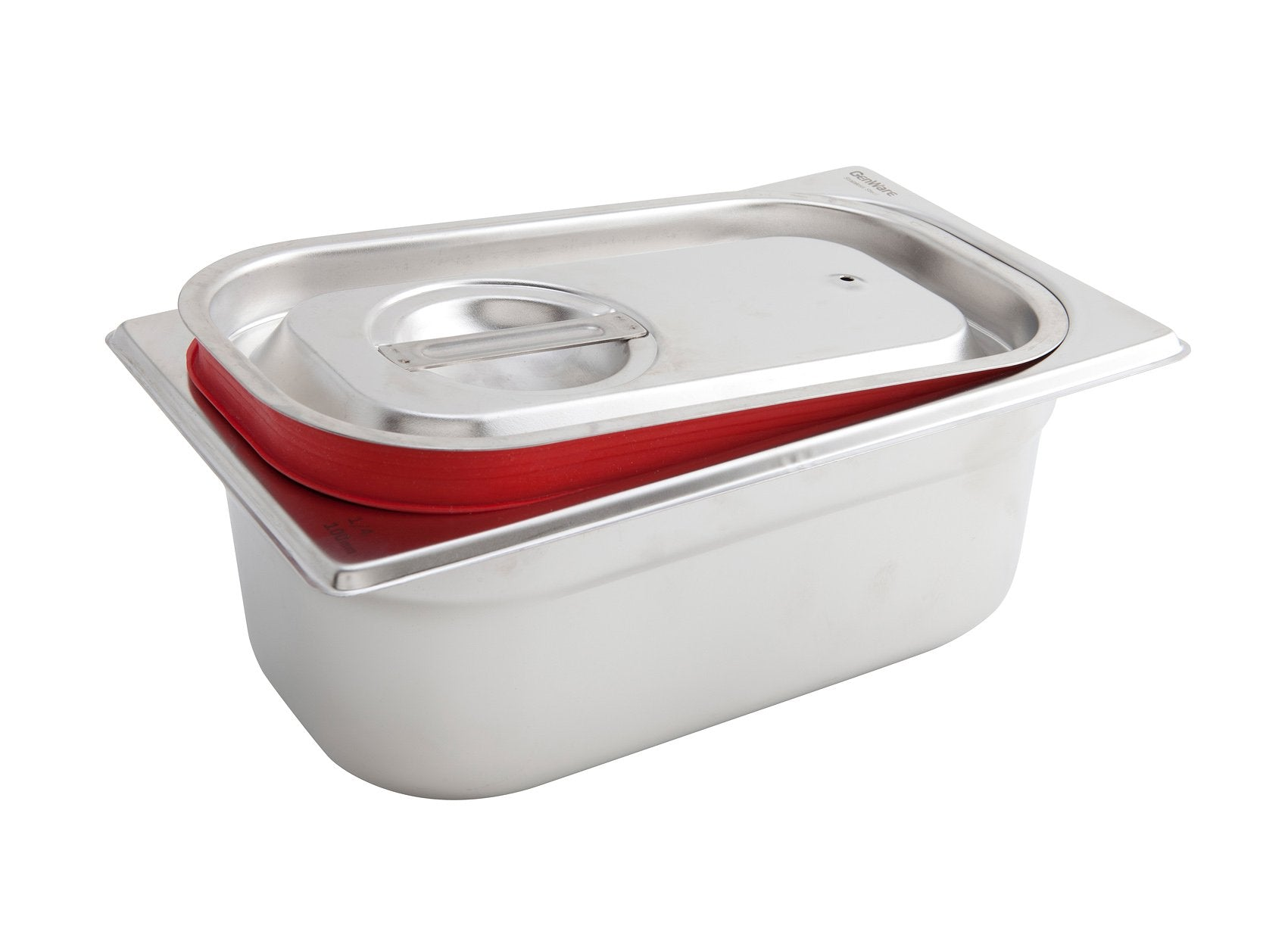 St/St Gastronorm Sealing Pan Lid 1/4